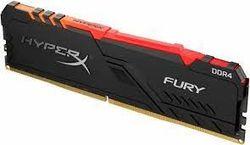 16 ГБ DDR4-3200 МГц Kingston HyperX FURY RGB (HX432C16FB3A / 16), CL16-18-18, 1,35 В, Intel XMP 2.0, Blk