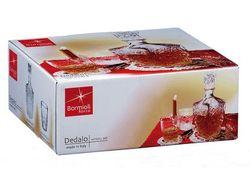Set garafa si 6 pahare pentru whisky Dedalo, in cutie de cadou