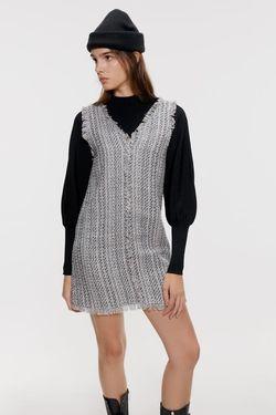 Платье ZARA Голубой в клетку 8251/211/403