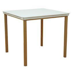 Masă cu suprafaţă şi picioare din lemn,1200x800x750 mm, alb