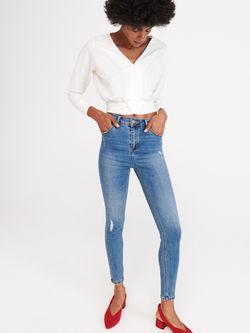 Pantaloni RESERVED Albastru inchis wk931-50j