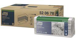 Tork нетканый материал для удаления масла и жира в салфетках, W4, 65г/м2, 38.5*42.8, 140/5, Серый, Premium