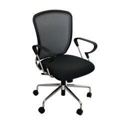 Scaun de birou 600x550x935 mm, gri cu negru