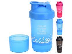 Бутылка-шейкер для спортивного питания 0.35l, H26cm