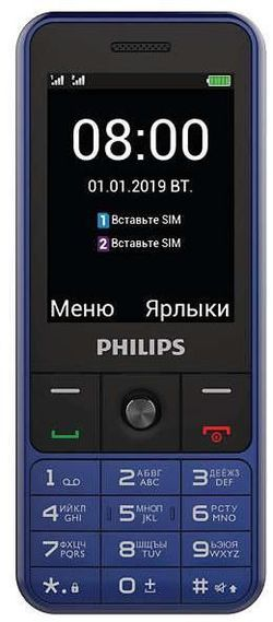купить Телефон мобильный Philips E182 Blue в Кишинёве