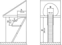 Лестница Standard 13090002.1 (80x110)