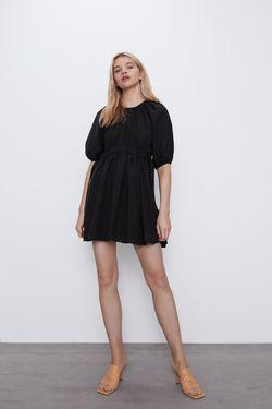 Платье ZARA Чёрный 4661/104/800