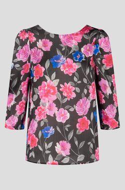 Блуза ORSAY Черный в цветочек