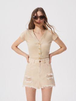 Блуза Sinsay Бежевый vn737