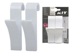 Крючки на полотенцесушитель 2шт белые, пластик
