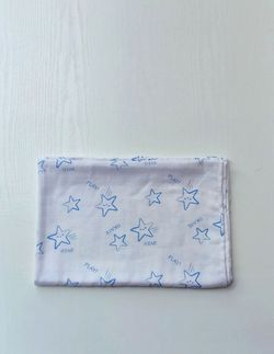 Муслиновая пеленка Pampy 100*80 см Stars blue