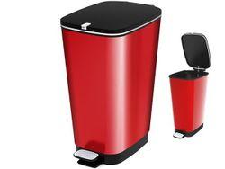 Cos pentru gunoi cu pedala Metal Red 60l, 29X45XH60cm