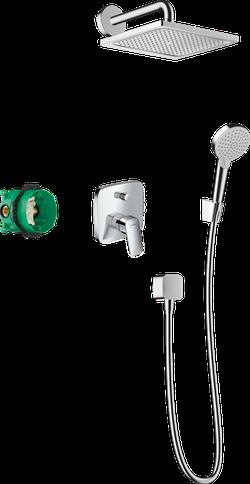 Crometta E Sistem de duș 240 1jet cu baterie monocomanda