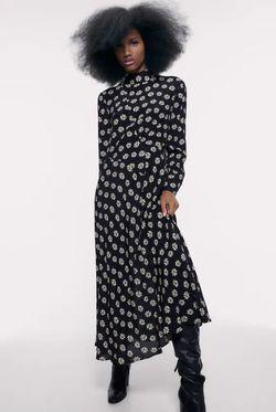Rochie ZARA Floral negru 2071/007/800