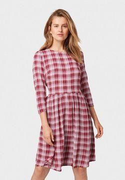 Платье TOM TAILOR Бордо в клетку 1013531 tom tailor