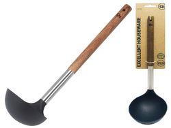 Половник EH 31cm, нейлоновый с деревянной ручкой