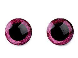 Ochi cu sclipici pentru jucării, cu dispozitiv de siguranță, Ø25 mm / rozaliu