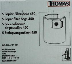 купить Пылесборник Thomas 450 for 1043 LG, 1250 S, 1445 S, 14 (787114) в Кишинёве