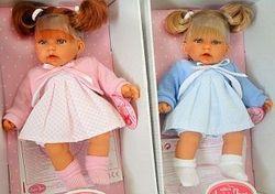 Copilă Doll cu ponytails 27 cm Cod 1222