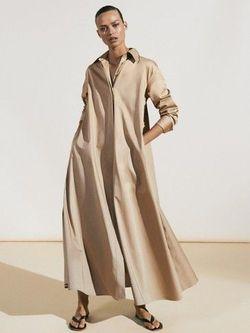Платье Massimo Dutti Беж 6668/584/710