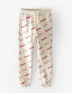 Pantaloni ZARA Bej cu imprimeu 9008/606/712