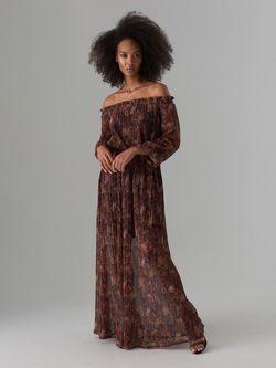 Платье MOHITO Коричневый в цветок wk680-88p