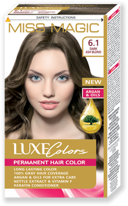 Vopsea p/u păr, SOLVEX Miss Magic Luxe Colors, 108 ml., 6.1 - Blond cenușiu închis