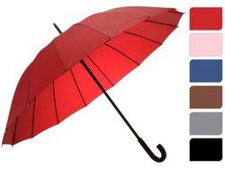 Зонт-трость одноцветный D104cm, 16спиц, 6цветов