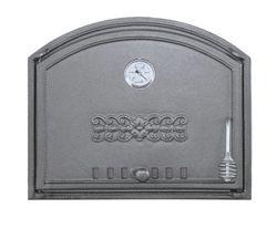 Дверца чугунная глухая с термометром левая DCHS1T