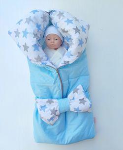 Конвертик трансформер для новорожденных PAMPY Blue