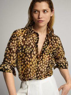 Блуза Massimo Dutti Принт 5129/833/300