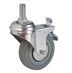 Колесо поворотное с болтом и тормозом – Ø100mm (3064-100)