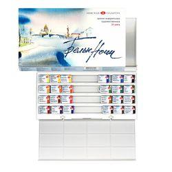 Набор акварельных красок Невская палитра Белые Ночи 24 цв.пластике+палитра