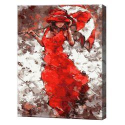 Doamna sub umbrelă Pictură pe numere, 40x50 cm