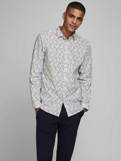 Рубашка JACK&JONES Белый с принтом 12168452