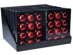 Набор шаров 12X57mm, 4матов, 8глянц, красн, в коробке