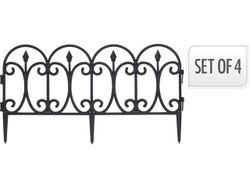 Gard decorativ pentru curte/gradina 60X33cm, 4buc