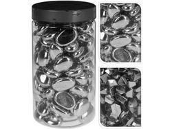 Набор камней декоративных 225gr, серебрянные