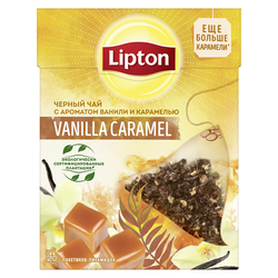 Ceai Lipton Nirvana Vanilla Caramel, 20 pliculeţe