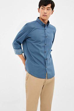 Camasa SPRINGFIELD Albastru cu imprimeu
