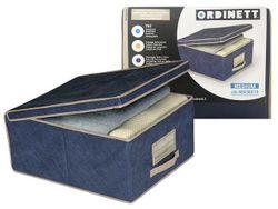 Коробка для хранения Blue 48X36X19cm с крышкой, тканевая