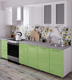 Bucătărie Bafimob Lena (High Gloss) 1.6m Green/White