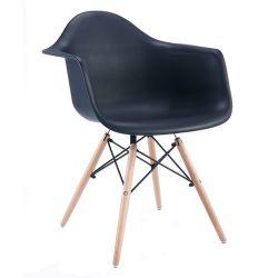 Деревянный стул с ножками, 640x600x450x810 мм, черный