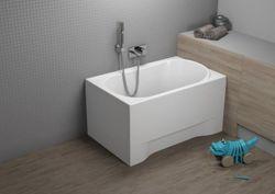 Акриловая прямоугольная ванна MINI(00545) 110x70x54.5cm(плюс крепления)