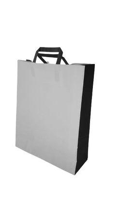 Бумажные крафт пакеты с плоскими ручками  32*12*40
