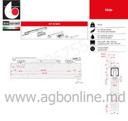 Комплект роликов для раздвижных дверей 80 кг Софт + Софт