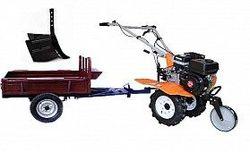 Set motocultivator TECHNOWORKER HB 700N+Remorca RK500 + plug reglabil