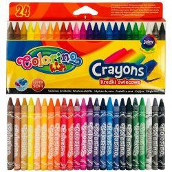 Восковые мелки 24 цвета Colorino