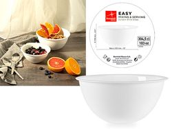 Салатница стеклокерамика 3l, 25.5cm Easy