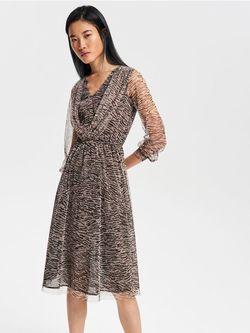Платье RESERVED Бежевый с принтом vf826-mlc